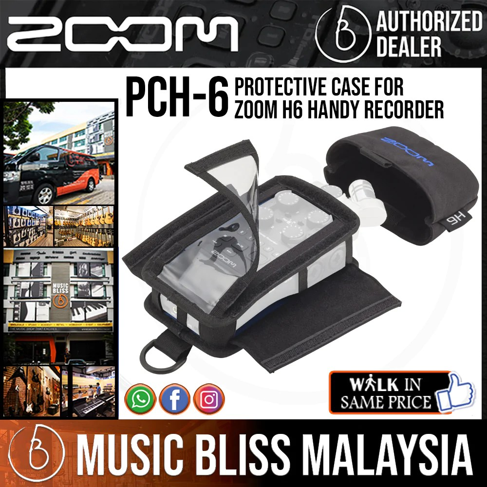 Zoom H6 Recorder Zoom Pch 6 Protective Case For Zoom H6 Handy Recorder Pch6