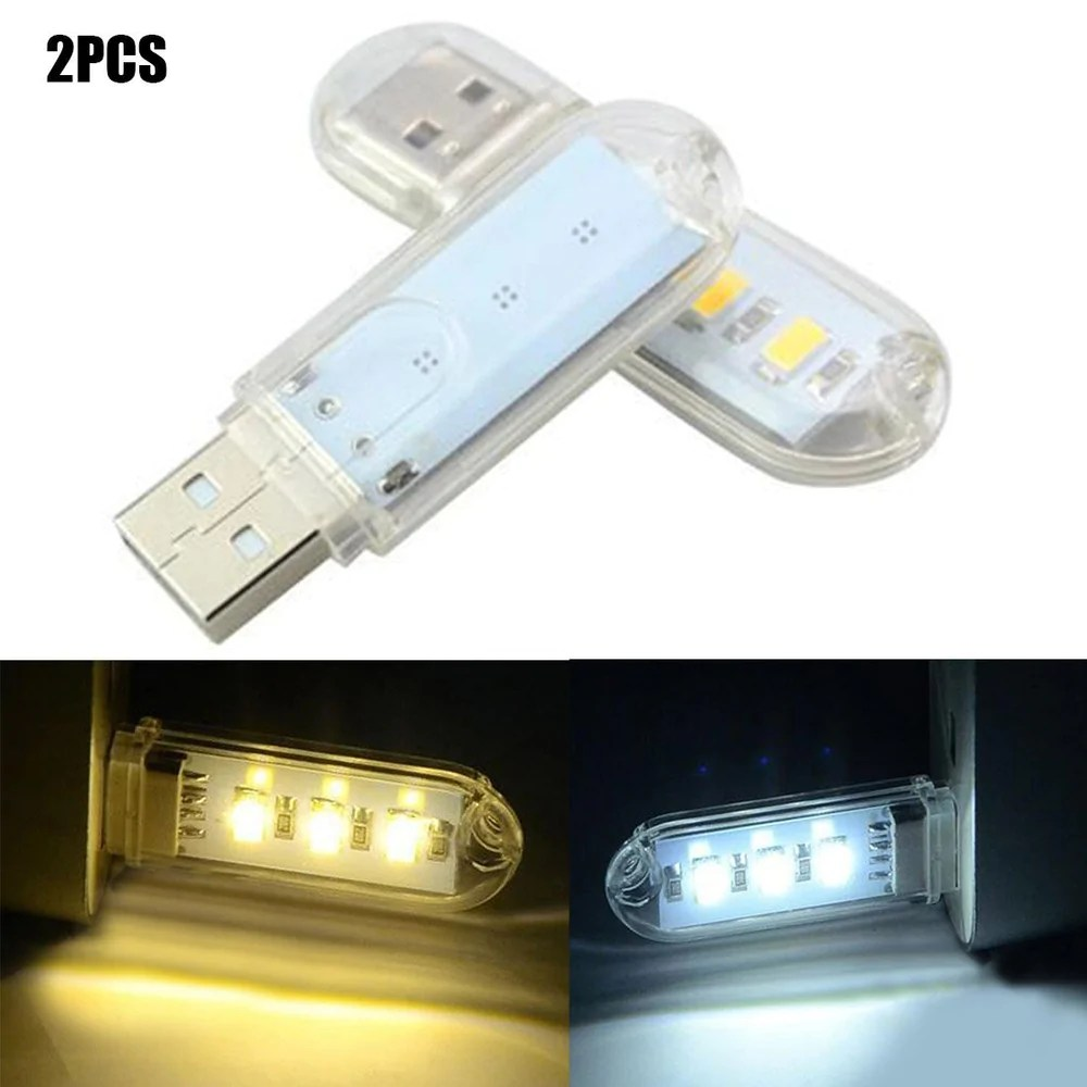 Book Lights 1pc Mini Usb Led Book Light 3leds Dc 5v For Pc Laptops Computer Notebook Power Bank Camping Lamp