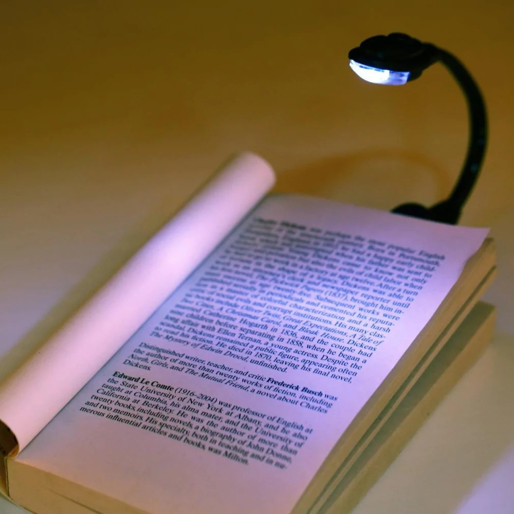 Book Lights 1pcs Mini Flexible Clip On Bright Book Light Laptop White Led Book Reading Light Lamp Worldwide