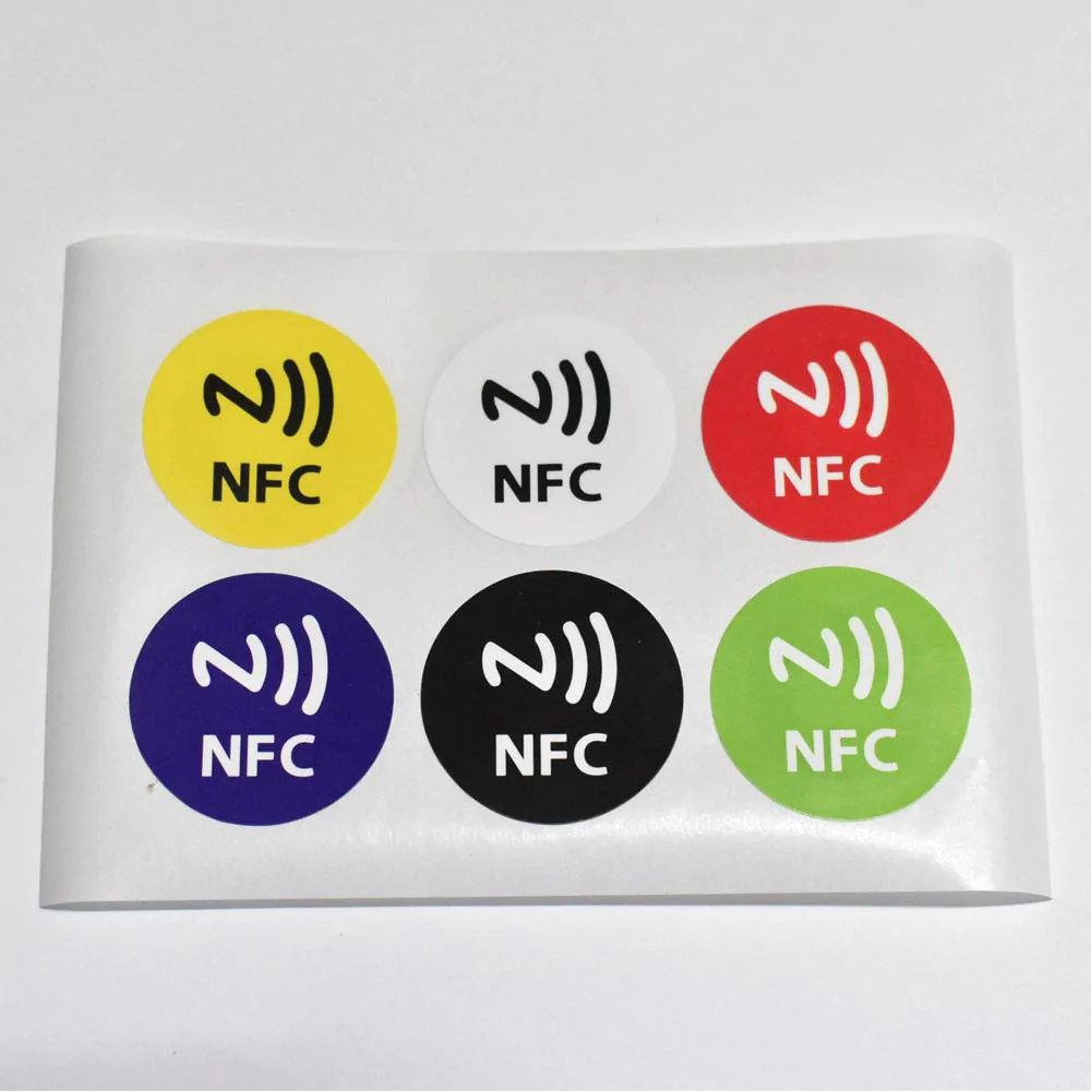 Nfc Tags 6pcs Lot Ntag213 Nfc Tags Rfid Adhesive Label Sticker Compatible With All Nfc Products Dia 30mm