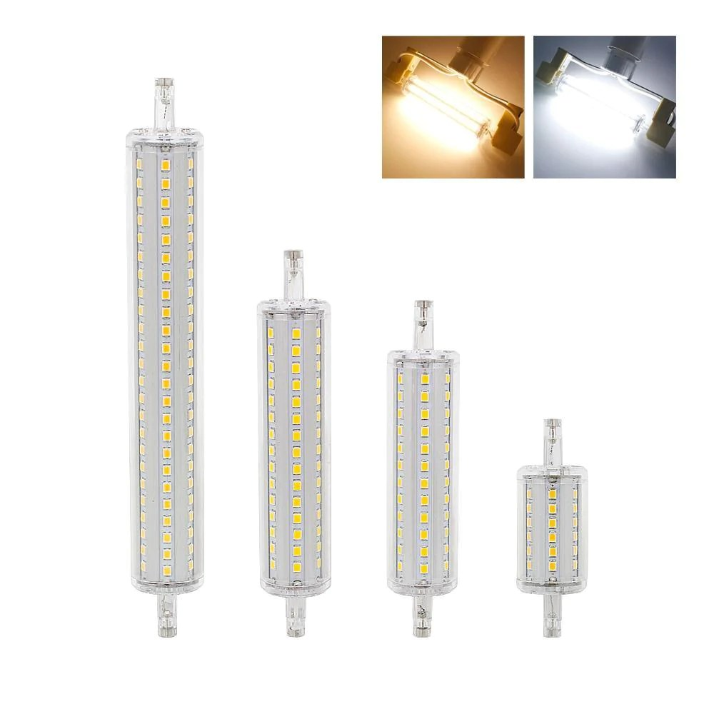 R7s Led Dimmable Dimmable Bulb R7s Led Corn 2835 Smd 78mm 118mm 135mm 189mm Light 7w 14w 20w 25w Replace Halogen Lamp