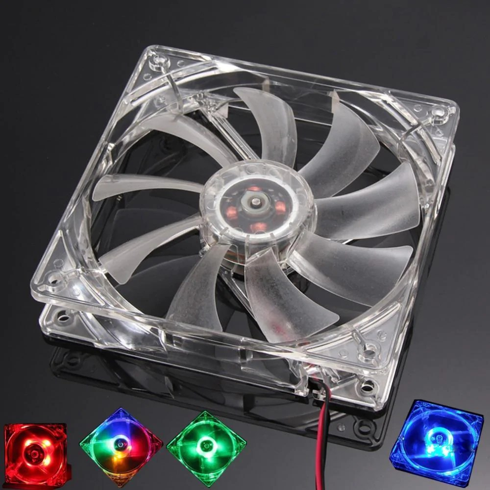 12v Led Quad Pc Computer Fan Quad 4 Led Light 120mm Pc Computer Case 12v Cooling Fan Mod Quiet Molex Connector