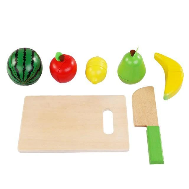 Wooden Kids Toys Simulation Cutting Of Fruits And