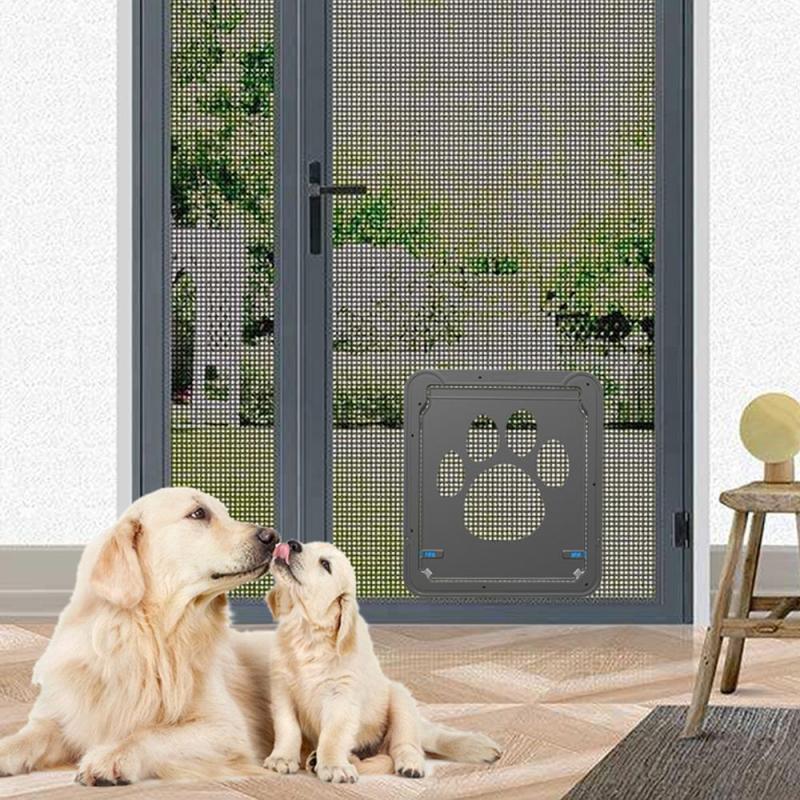 Lummy Lockable Cat Flap Door Pet Door Automatic Dog Cat Door
