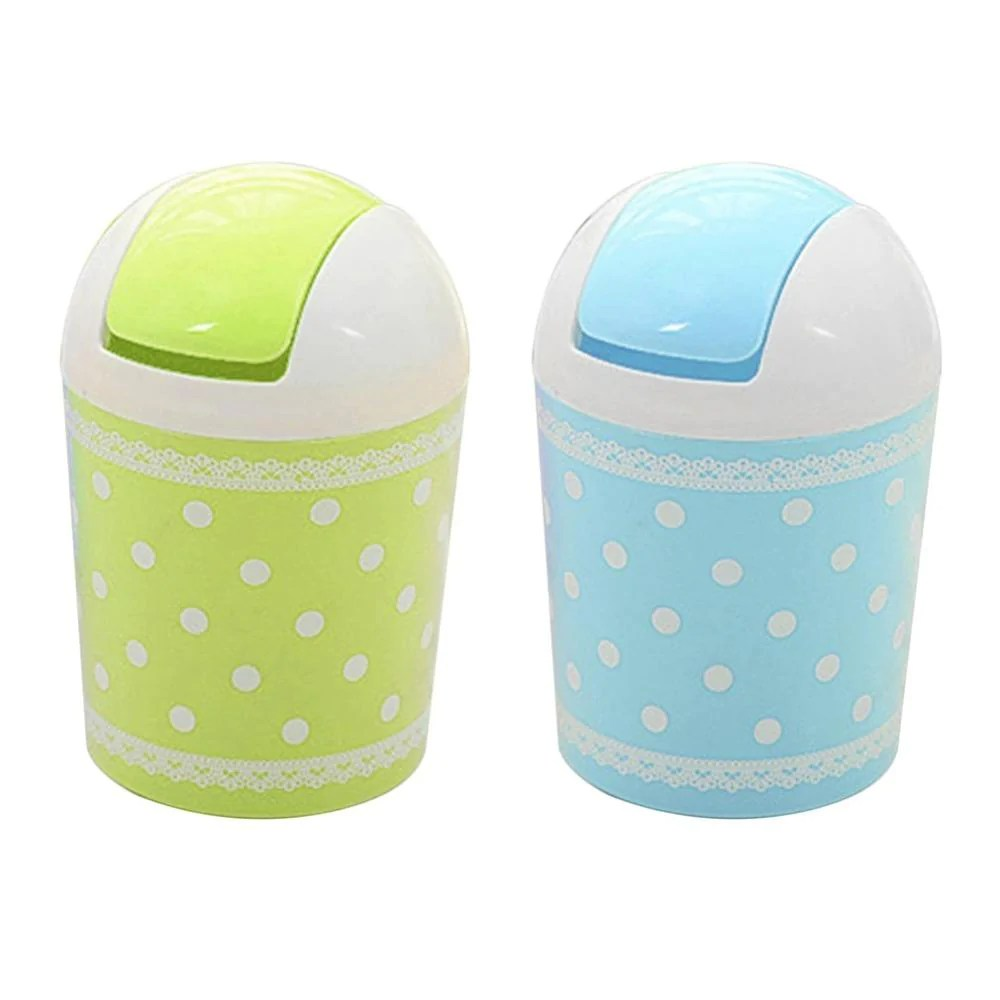 Mini Plastic Trash Can With Lid Preup Lovely Plastic Pp Mini Trash Can Table Dustbin Sundries Barrel Storage Tank Desktop Garbage Receive A Box Trash Can