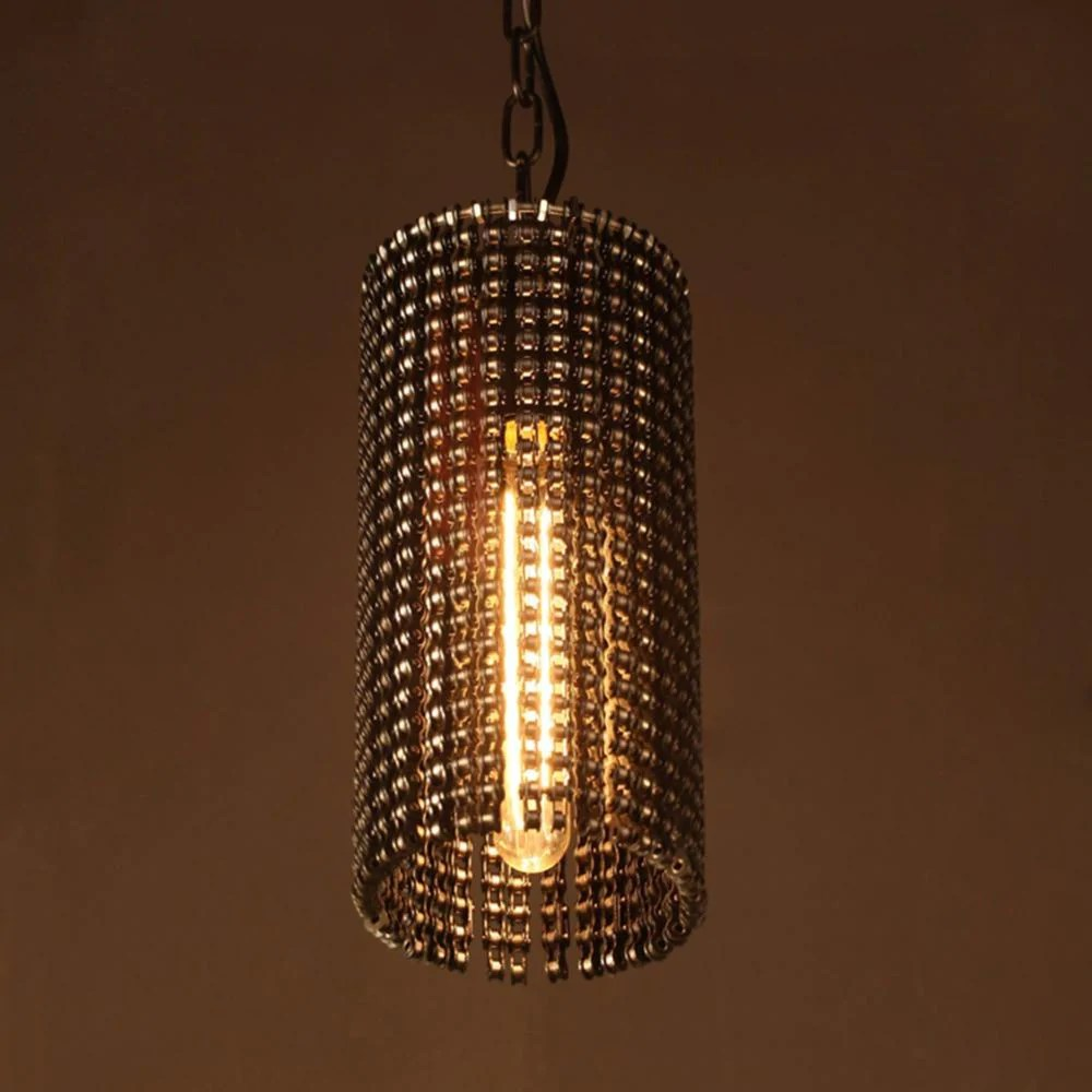 Luminaire Suspension Vintage Rustic Industrial Pendant Lights Vintage Lamp Suspension Luminaire Bicycle Chain Hanging Light E27 For Decor Loft Lamp