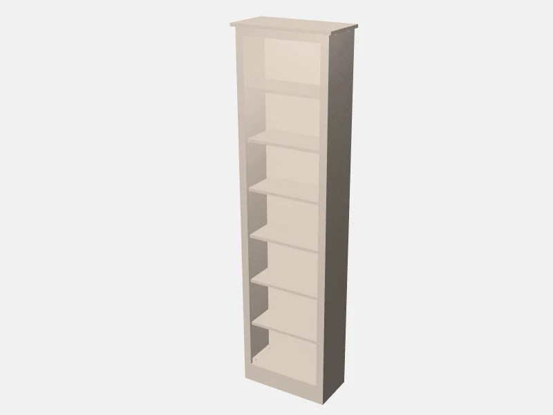 The Cabinet Shop Customisable Single Bookcase