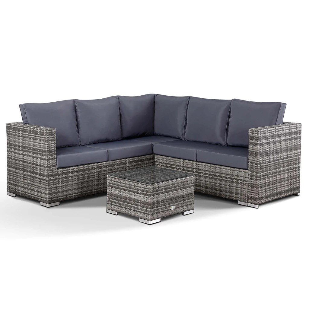 Rattan Corner Sofa Ireland Lille Corner Sofa With Coffee Table In Small Grey Rattan Club Rattan
