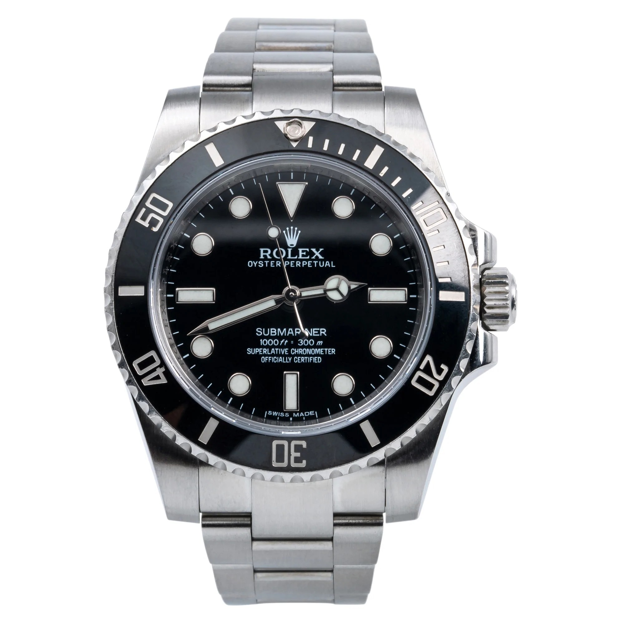 Stainless Rolex Stainless Steel Rolex Submariner 114060 40mm Black Dial