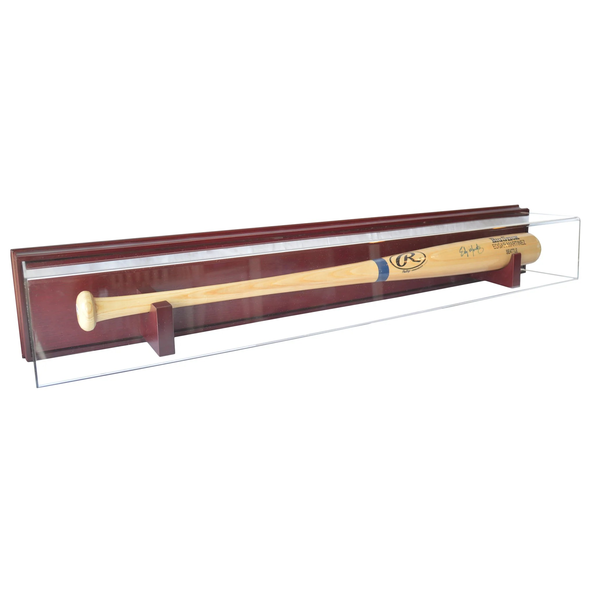 Wall Mounted Display Case Baseball Bat Wood Base Wall Mount Display Case