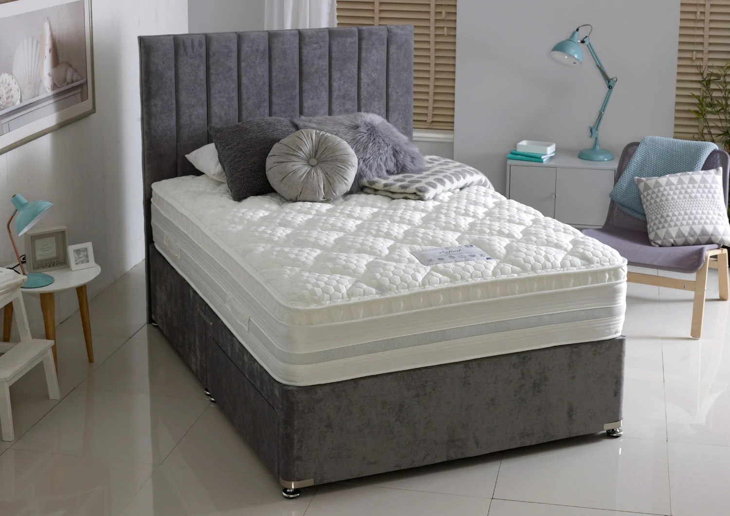 Dura Beds Mattress Oxford Pocket Sprung And Memory Foam Divan Bed Set