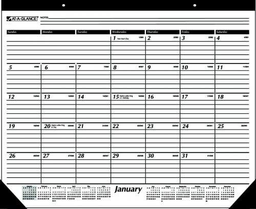 At-A-Glance 2019 Calendar Year Desk Pad Calendar - Sterling College