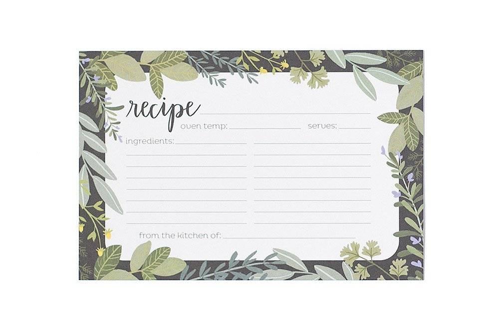 1Canoe2 Herb Border Recipe Cards - Typo Market