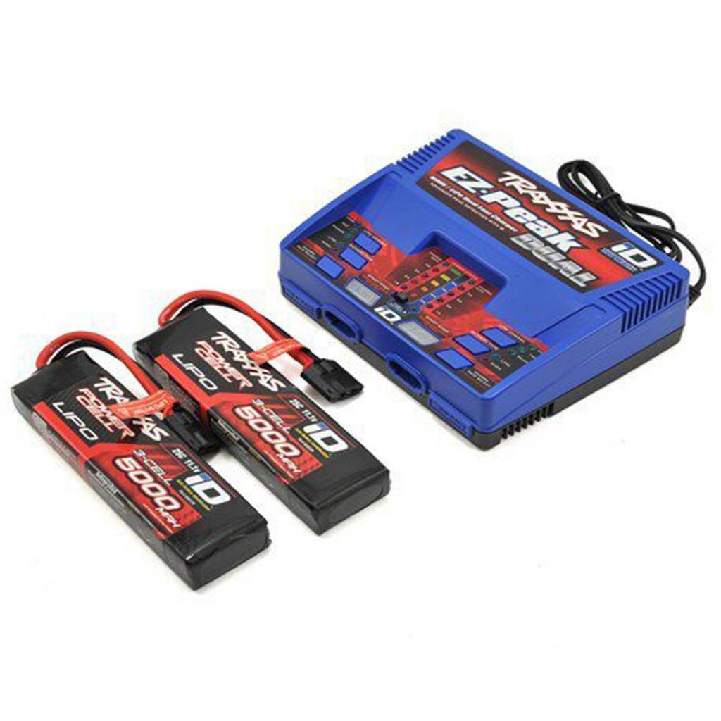 3s Lipo Tra2990 5000mah 3s Lipo Dual Multi Chemistry Battery Charger Combo