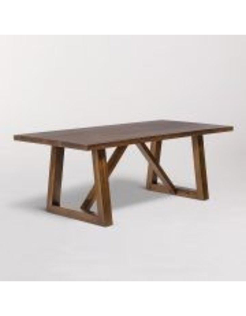 Dining Table Designs Mendocino Rectangular Dining Table In Dark Chestnut 84