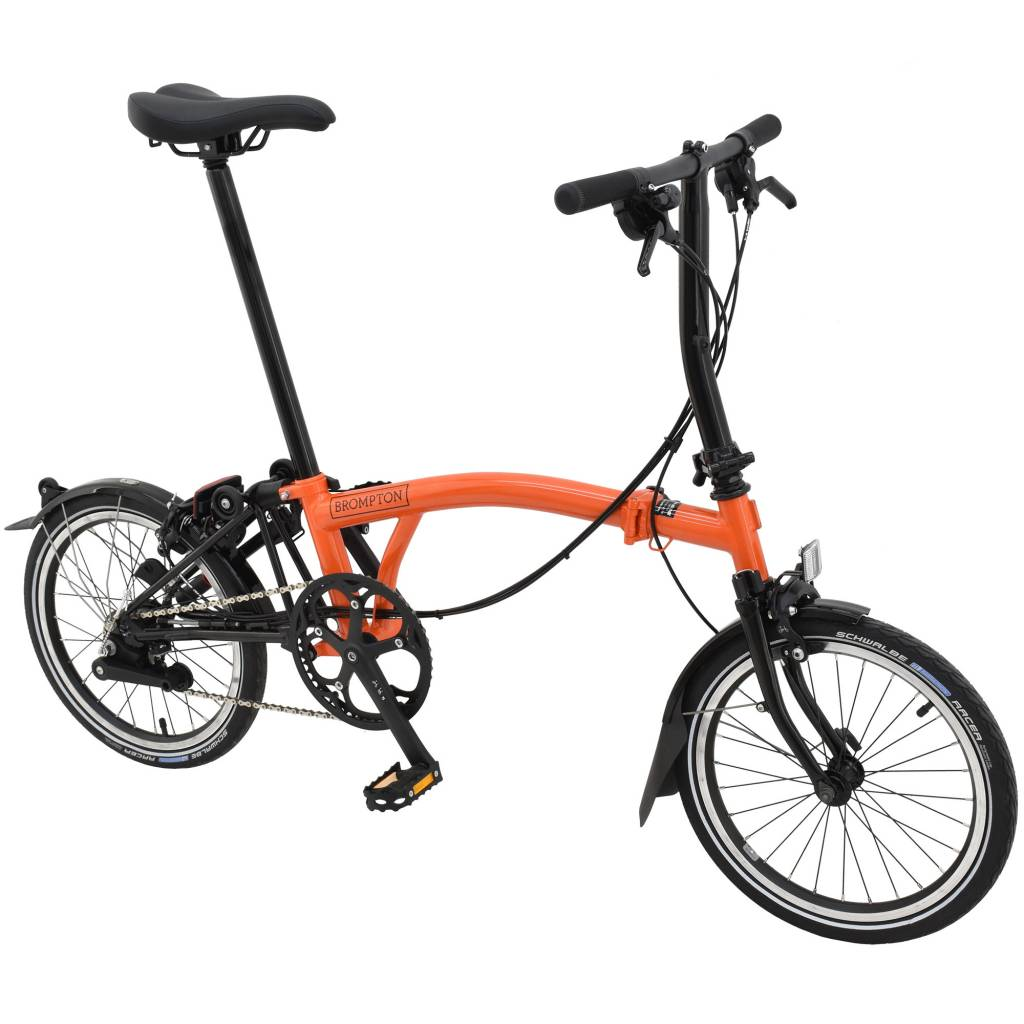 Brompton Bikes Brompton S6l Orange Black Black Edition Kojak Tires