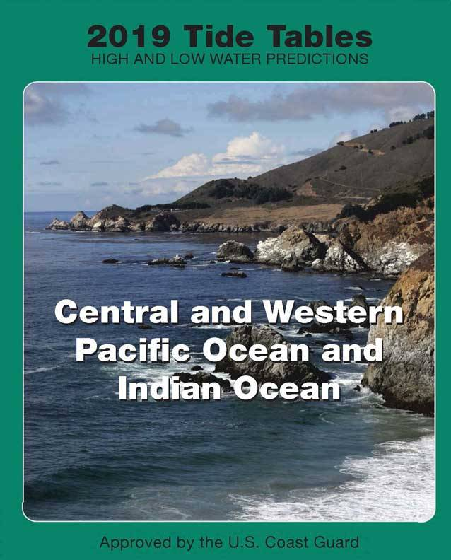 Tide Tables 2019 Central  W Pacific  Indian Oceans - Pilothouse