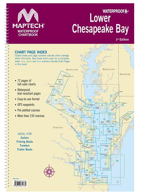 Lower Chesapeake Bay Waterproof Chartbook by Maptech WPB0440-01