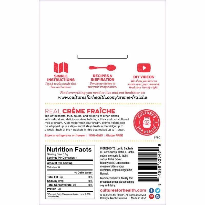 Cheese (Creme Fraiche) Starter Culture (Cultures for Health