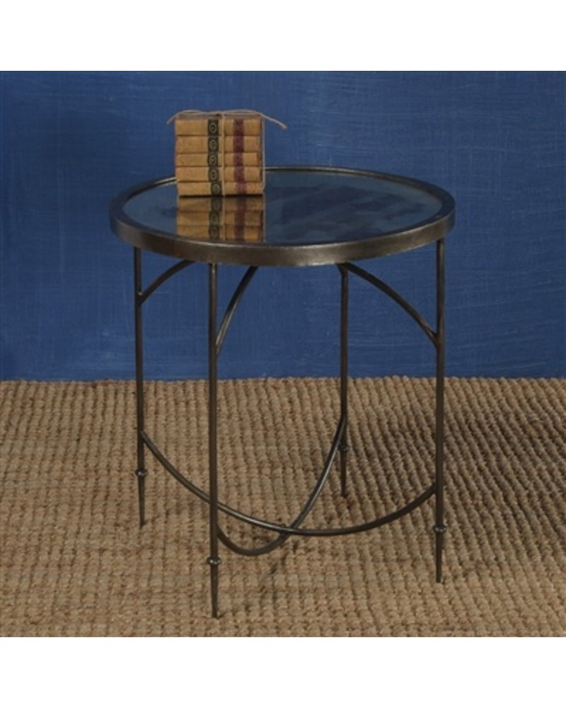 Carrefour Table Homart Carrefour Mirrored Side Table Antique Nickel Antique Mirror