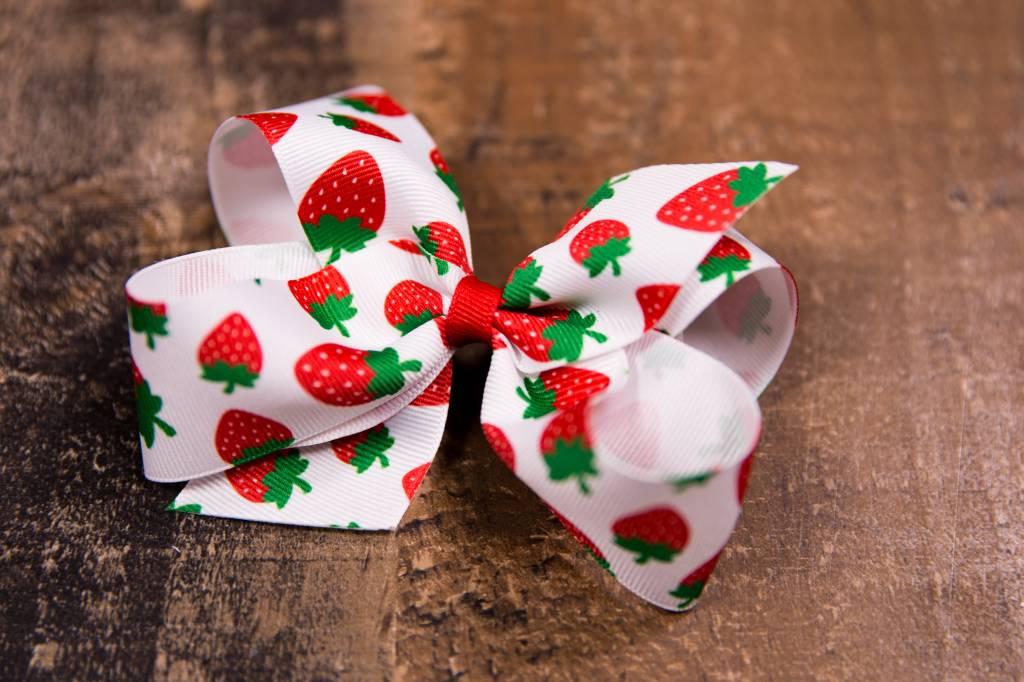 Medium Strawberry Bow Peek A Bootique