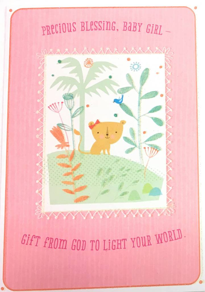 DaySpring Precious Blessing Baby Girl Congratulations Card - Queen