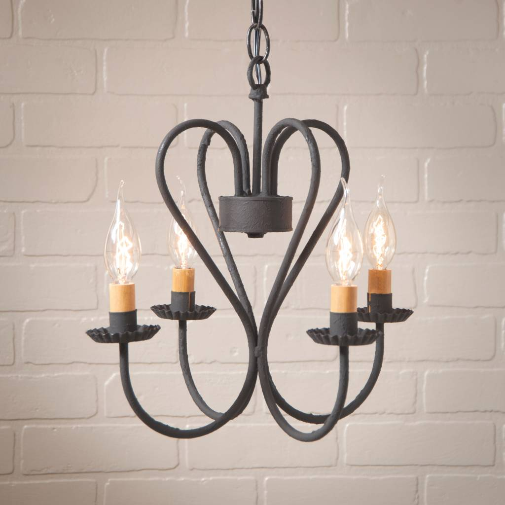 Small Simple Chandelier Georgetown Chandelier In Textured Black Small