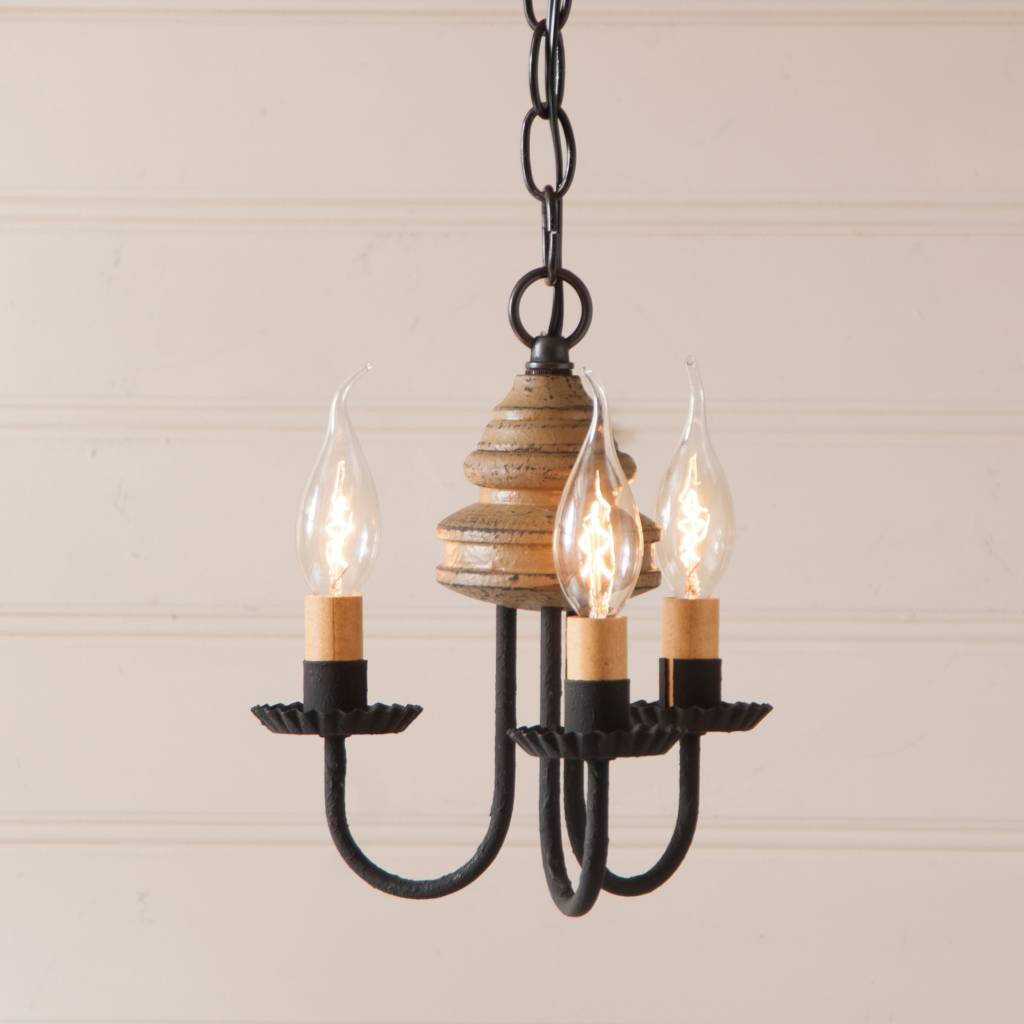 Small Simple Chandelier Bellview Wood Chandelier Colonial Chandeliers Small Nana S Farmhouse