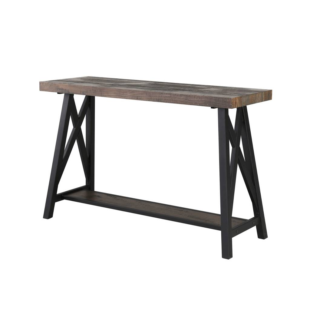 Accent Meuble Financement Nspire Table Console Chêne Rustique Collection Langport