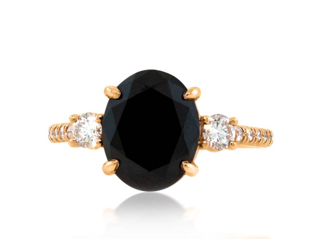 Black Diamond 3 30ct Black Diamond Dark Star Ring