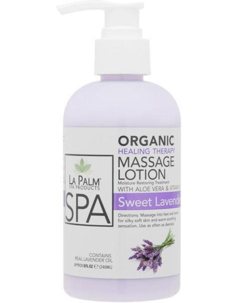 Healing Treatment La Palm Organic Healing Therapy Massage Lotion Sweet Lavender Dreams Step 5 240 Ml