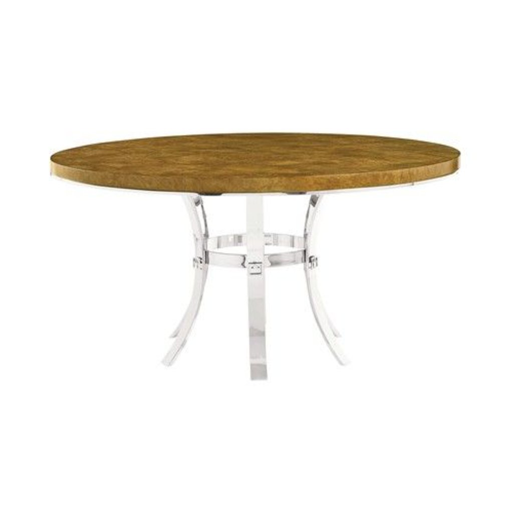 Table Luxe Bernhardt Soho Luxe Round Dining Table And Metal Base