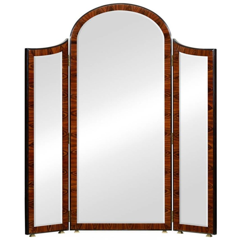 Art Deco Style Mirror Jonathan Charles Art Deco Style Full Length Triple Dressing Mirror
