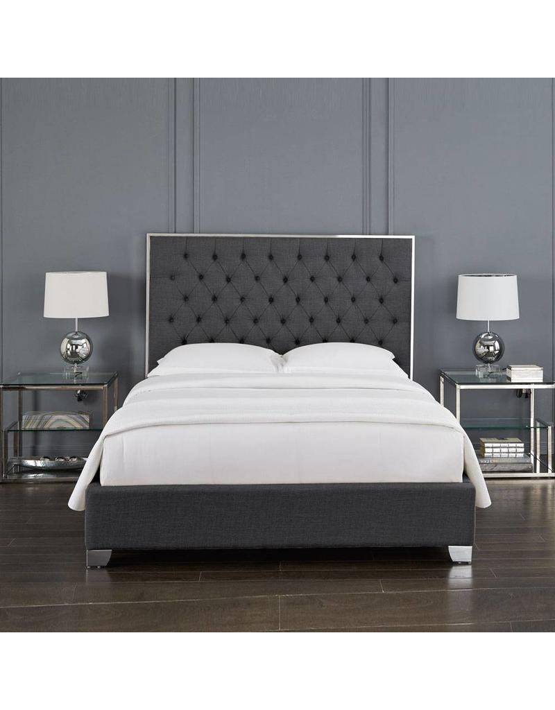 Queen Bed Frame Kroma Slate Grey Queen Bed