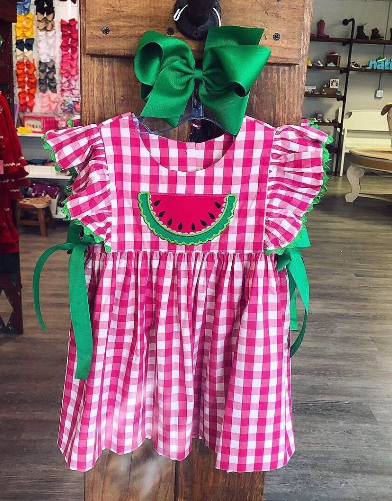 Applique Honesty Watermelon Applique Dress