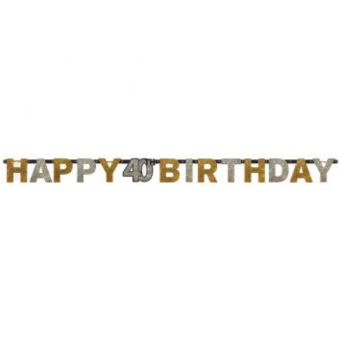 Sparkling Celebration 40 Prismatic Letter Banner - POP! Party Supply