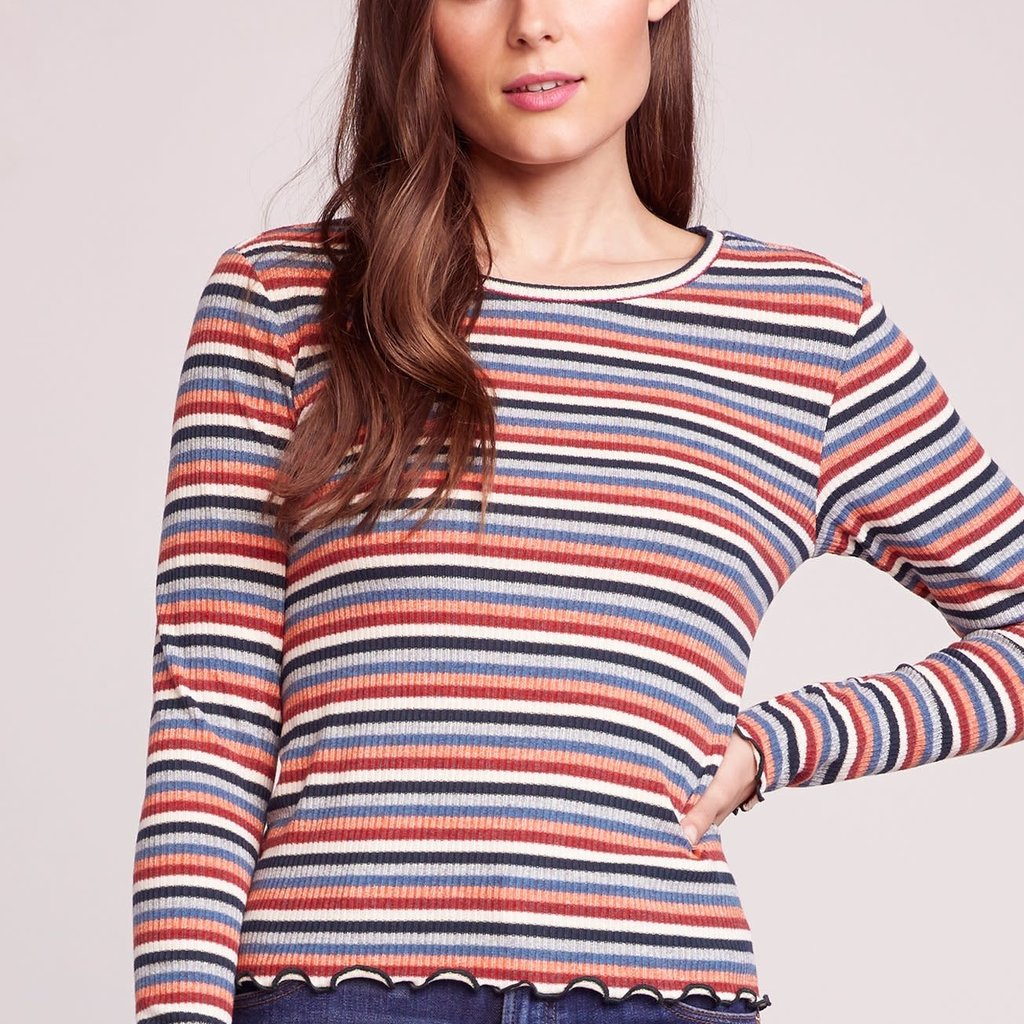 Top Bb Bb Dakota Cream Of The Crop Stripe Top