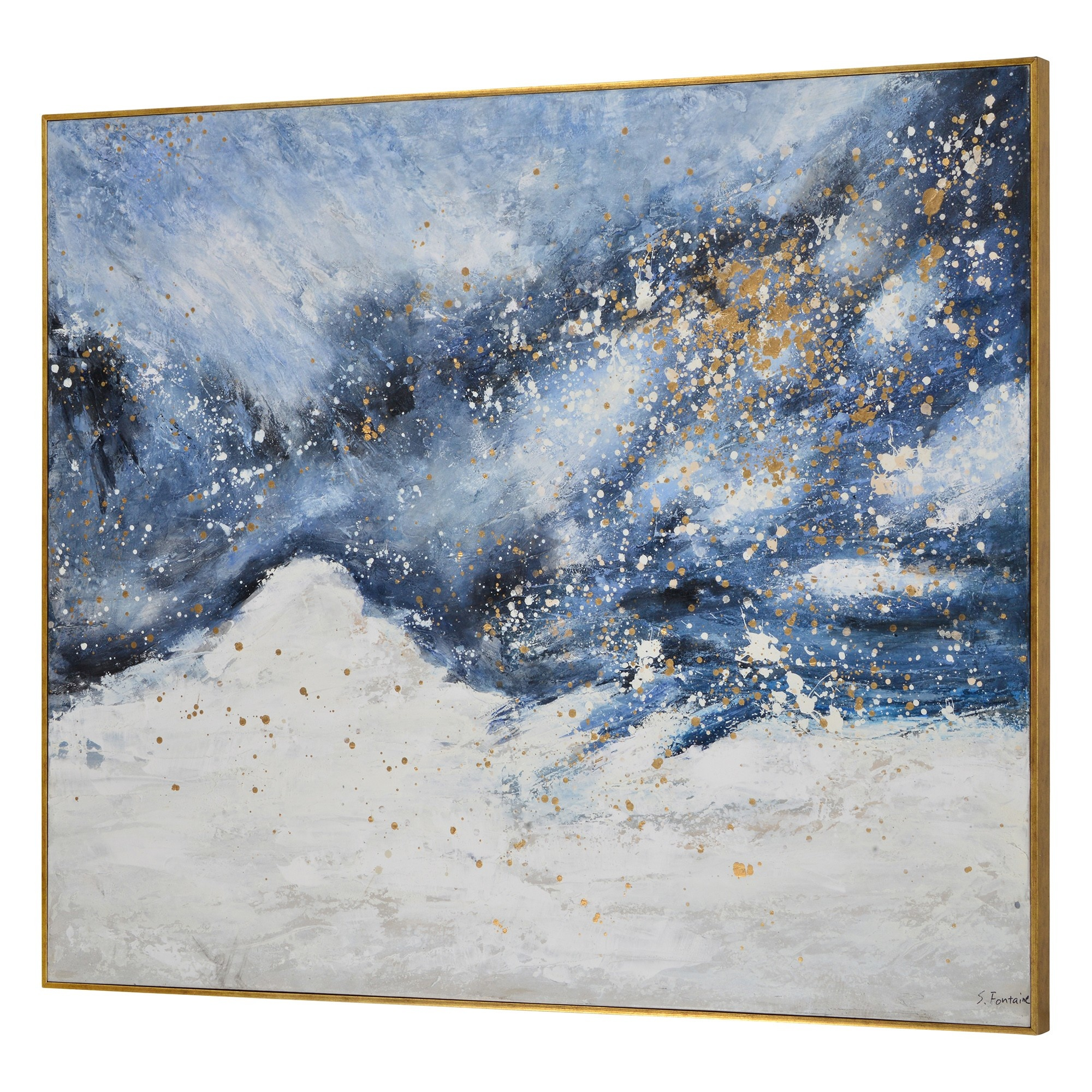 Astral Hand Painted Canvas Maison Dwellin