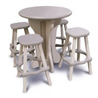 Leisure Accents Round Patio Table, 30 Inches by 36 Inches ...