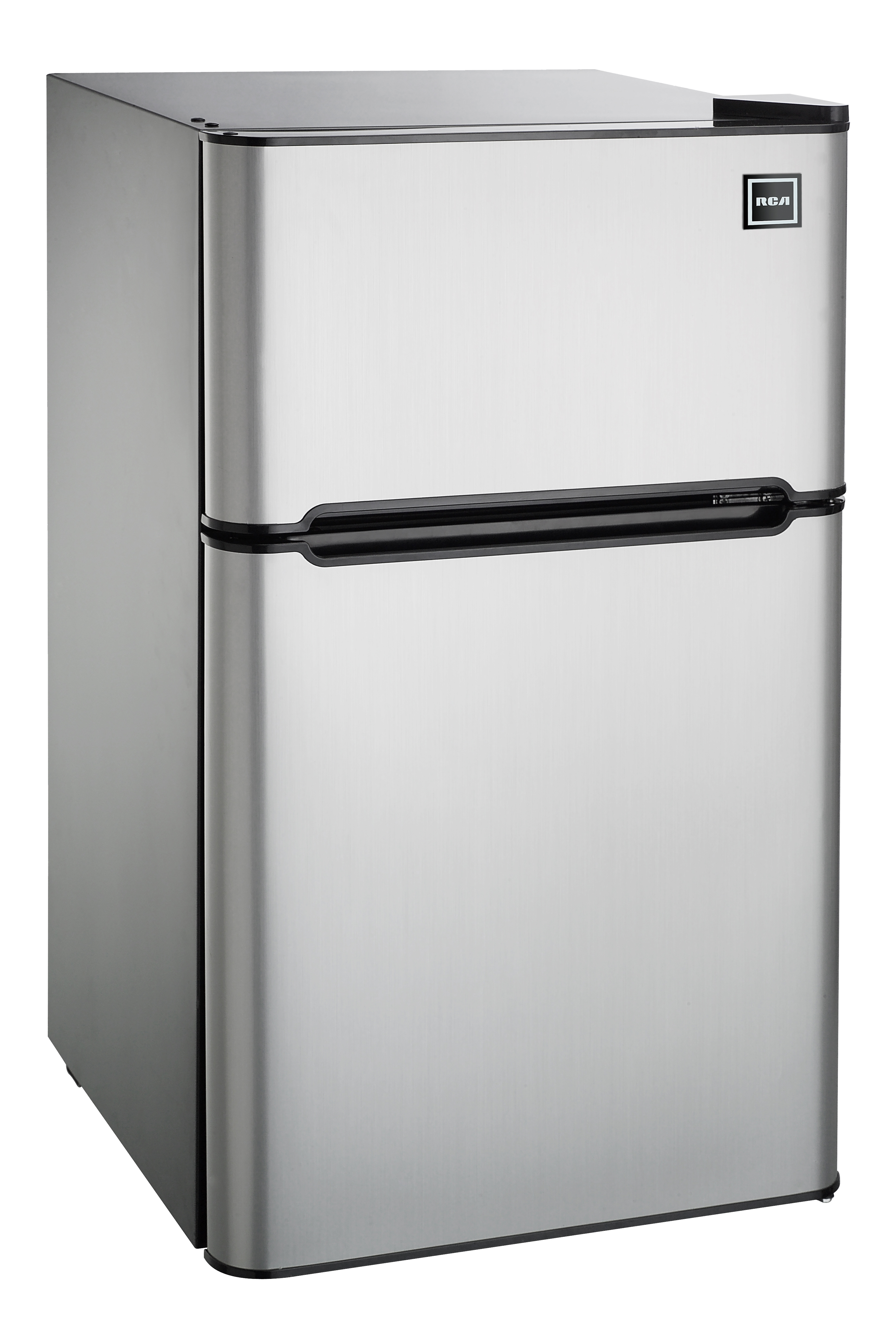 Mini Fridge And Freezer Details About Rca 3 2 Cu Ft Two Door Mini Fridge With Freezer Rfr834 Stainless Steel