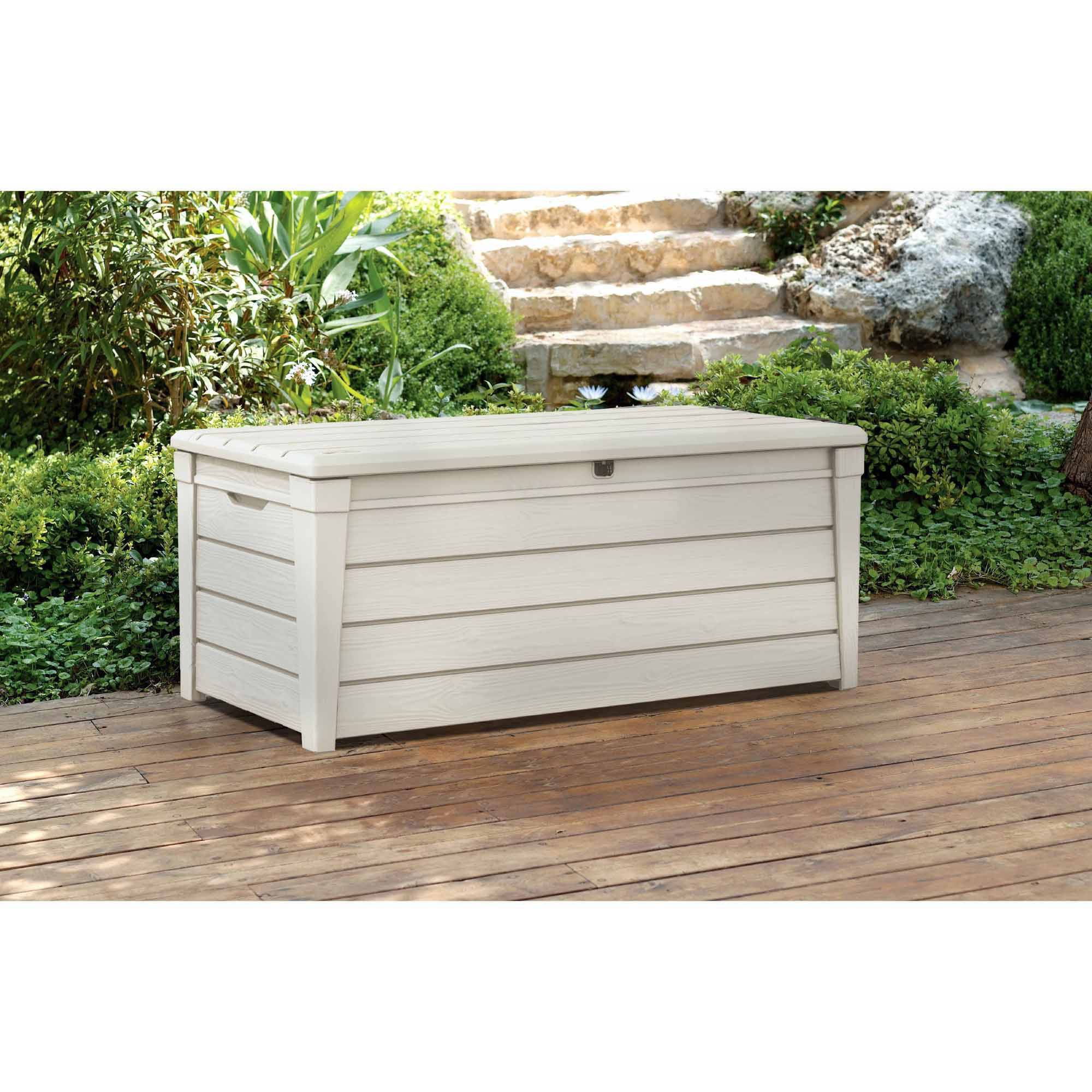 Outdoor Firewood Storage Containers Keter Brightwood Outdoor Plastic Deck Storage Container