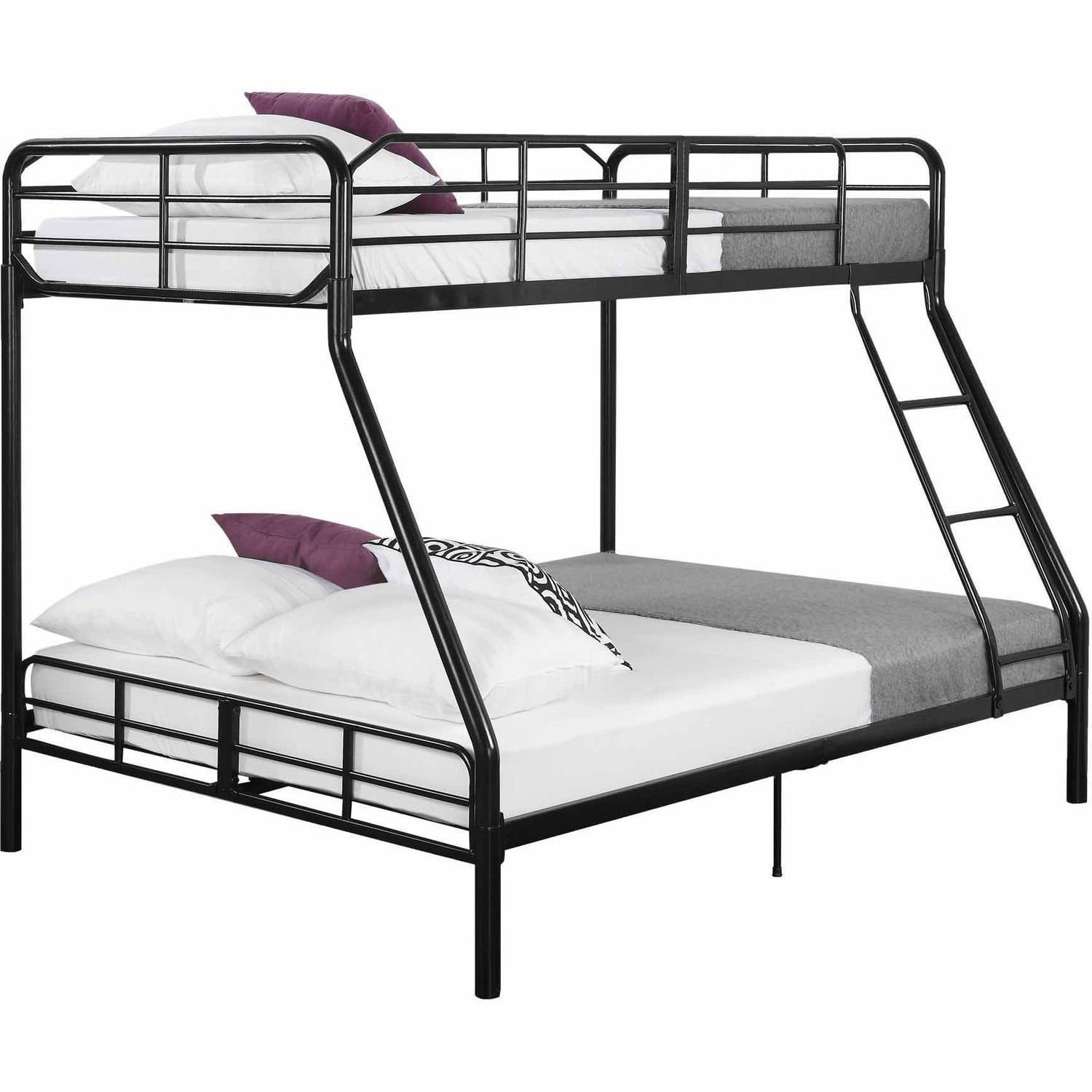 Bunk Bed Dimensions Twin Over Full Metal Bunk Bed W Ladder Kids Bedroom