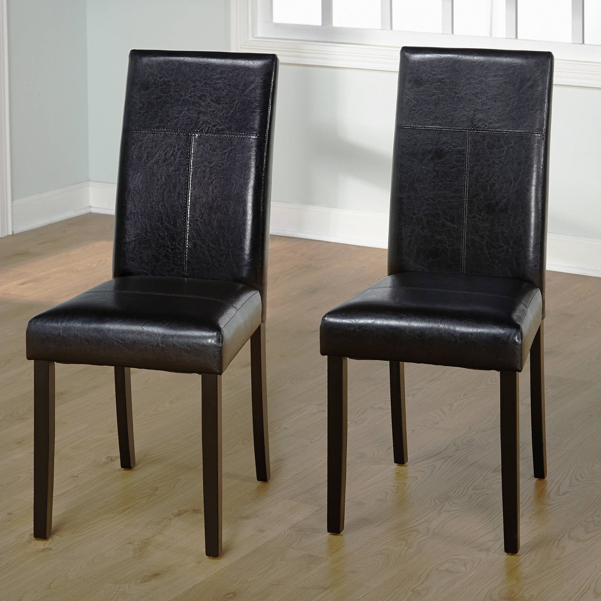 Leather Dining Chairs Faux Leather Parson Dining Chair Set Of 2 Ebay