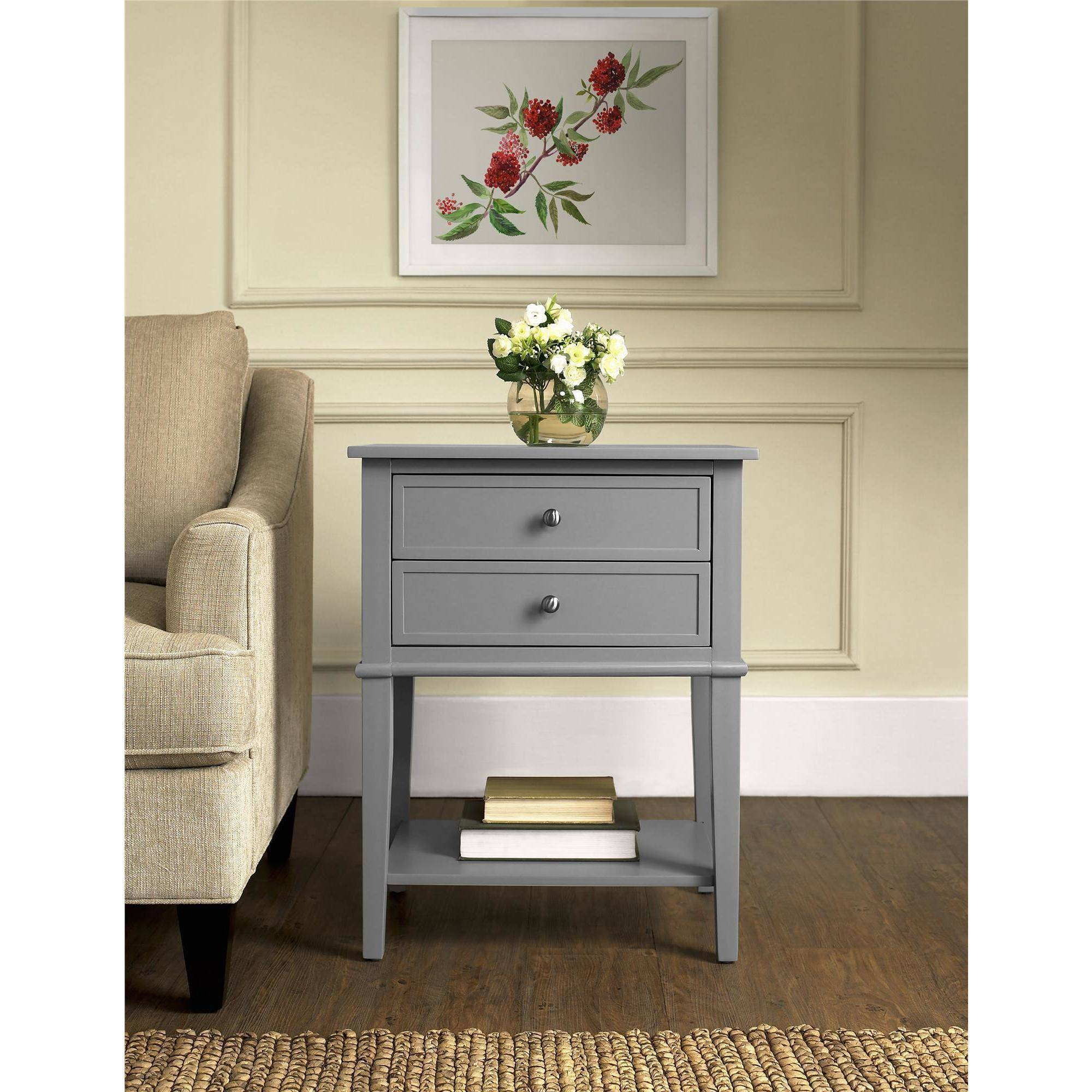Altra Furniture Franklin 2 Drawer Accent Table Multiple