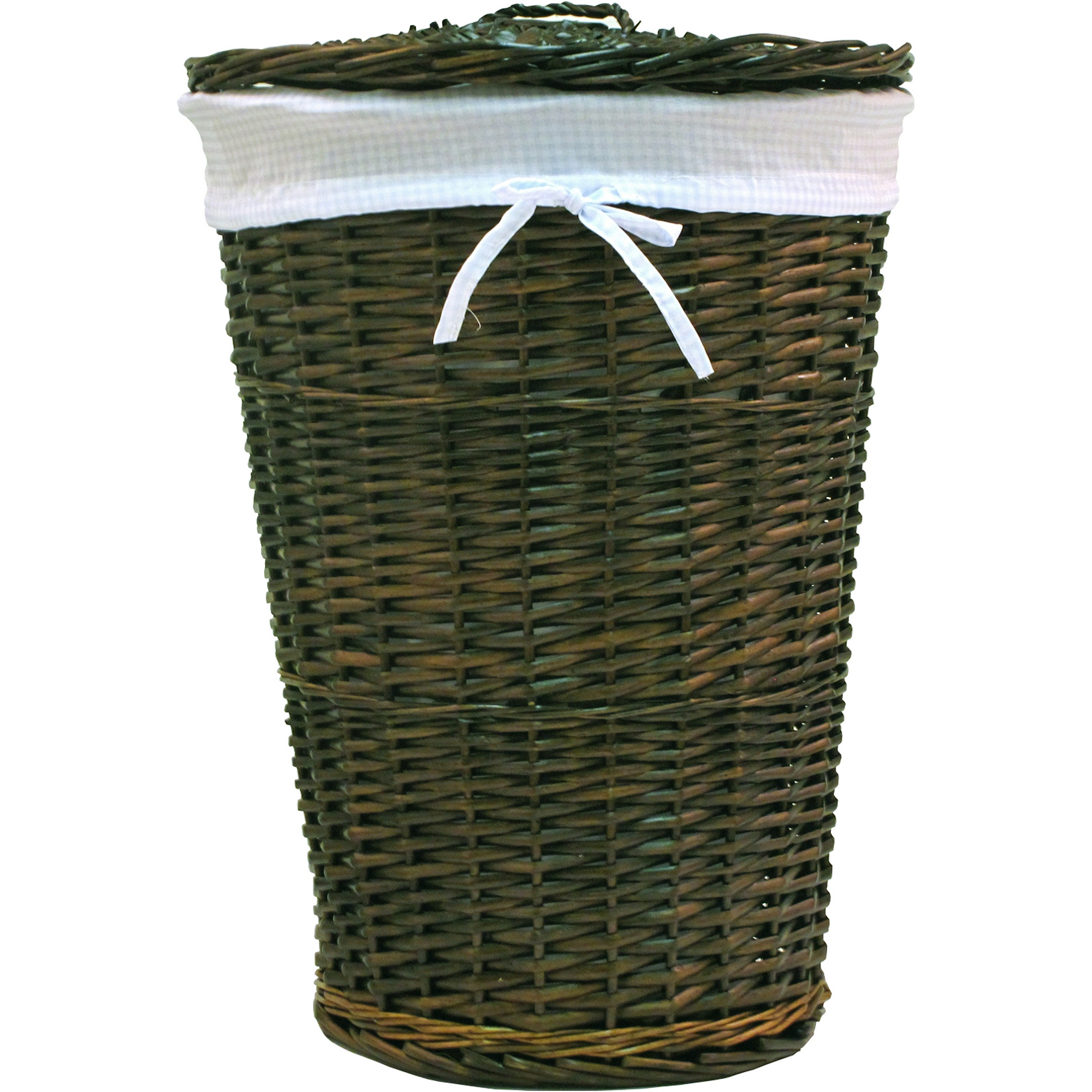 White Hamper With Liner Round Hamper Liner Ebay