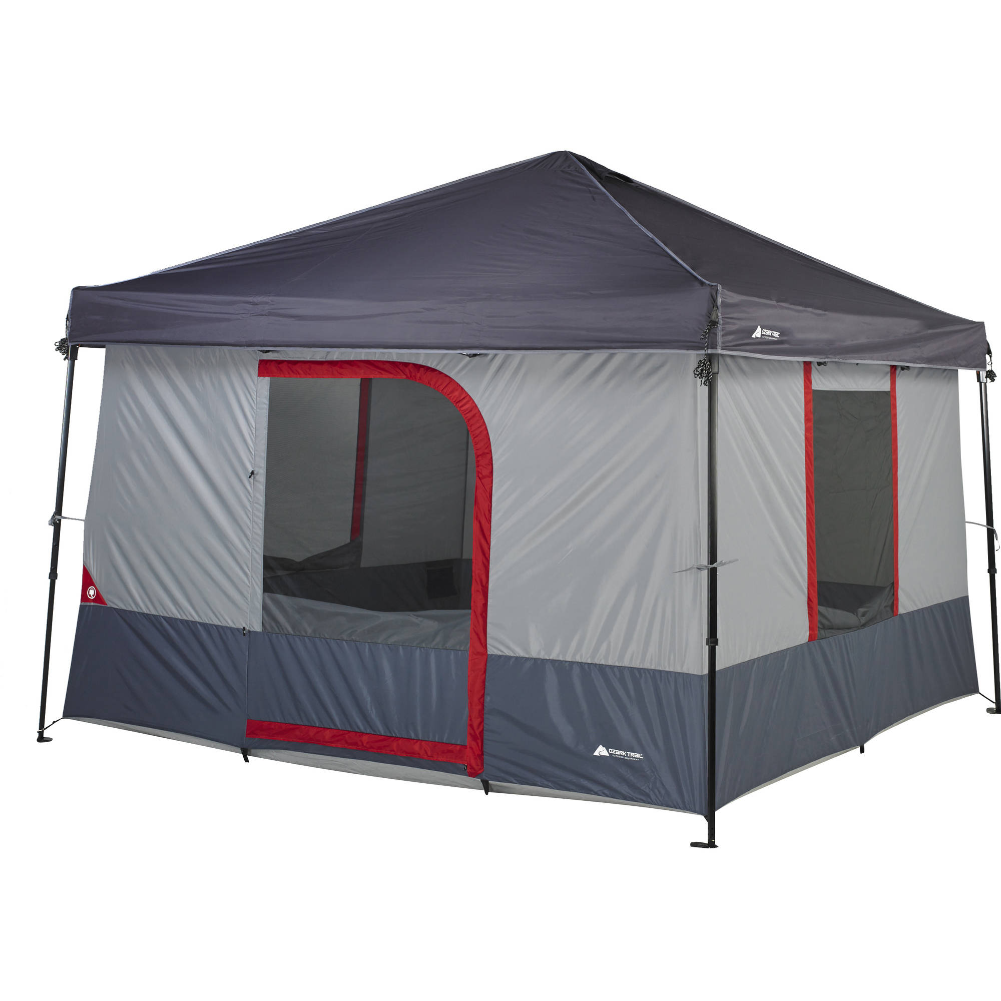 4 Camping Details About New Ozark Trail 6 Person Connectent For Canopy Outdoor Family Camping Tent