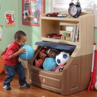 Storage Toy Chest Step2 Bookcase Lift & Hide Kids Play ...