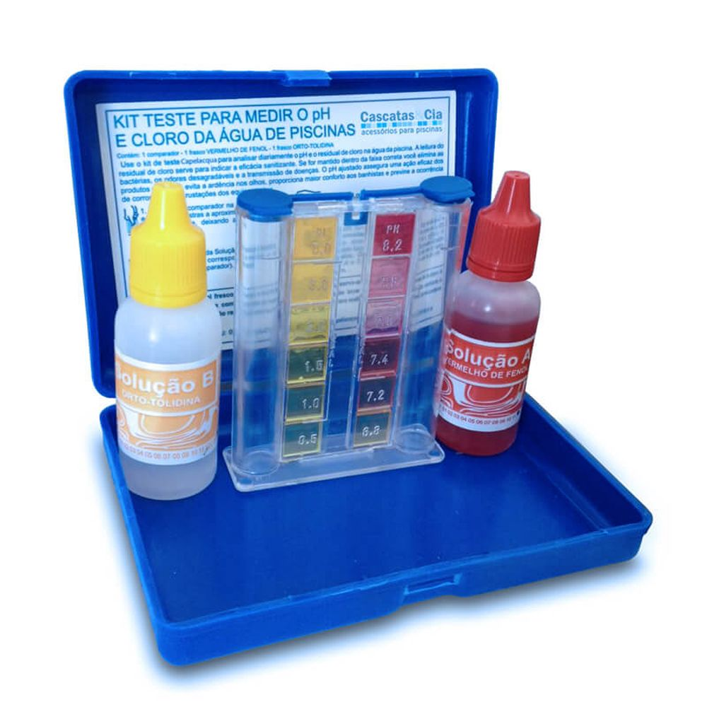 Ph Piscinas Kit Estojo Teste Medidor De Ph E Cloro Para Piscina