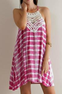 Bedazzled Tie-dye Crochet Dress from Oklahoma  Shoptiques