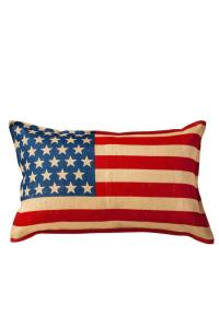 Ecoaccents Usa Flag Pillow from Williamsburg by Paisley ...